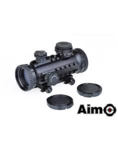 Visor Aim-0 1*30 black red dot rojo/verde